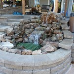Beautiful rock fountain from Little Giant Pool & Spa